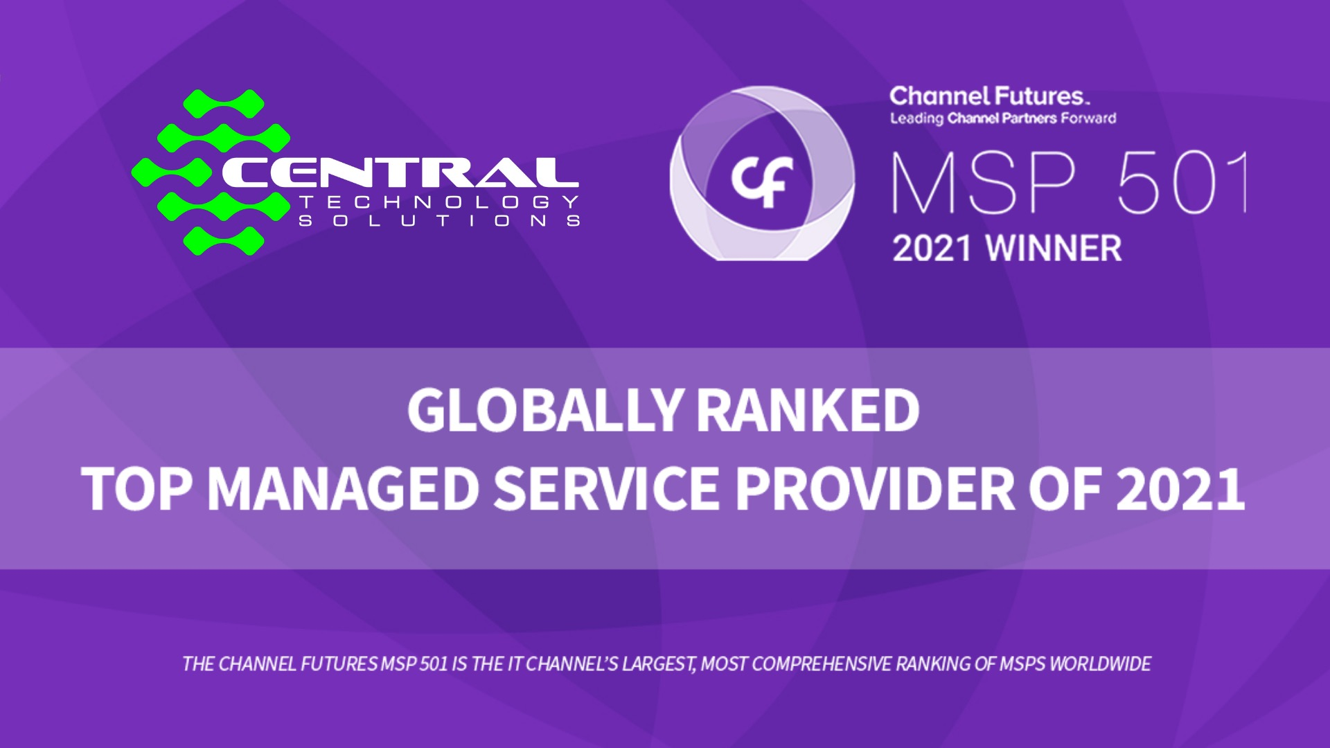 CTS Ranks Globally in the MSP 501